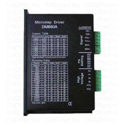 Léptetőmotor vezérlő, DM860A, 7.2A 80VAC